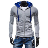 2017 Fashion Brand Hoodies Men Casual Sportswear Man Hoody Zipper Long-sleeved Sweatshirt Men Slim Fit Men Hoodie W1
