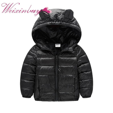 2017 Autumn Winter Baby Boy Girl Clothes Long Sleeve Casual Clothing Solid Hooded Kids Boys Girls Clothes Soft Coat
