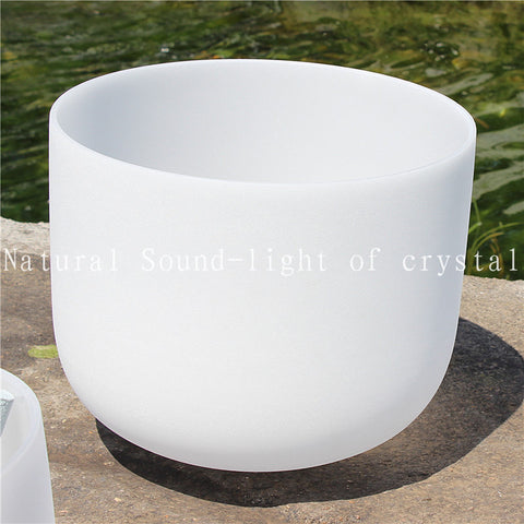 "8"" - 12"" 7pcs Chakra Toned  Frosted Quartz Crystal Singing Bowl"