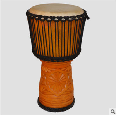 12 inch hand hollowed out imported goat skin African drum carving performance level African tambourine