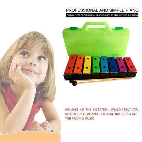 TL8-15 8 Notes Xylophone Early Childhood Kids Music Instrument Baby Learning Music Instrument With Plastic Box gift for child