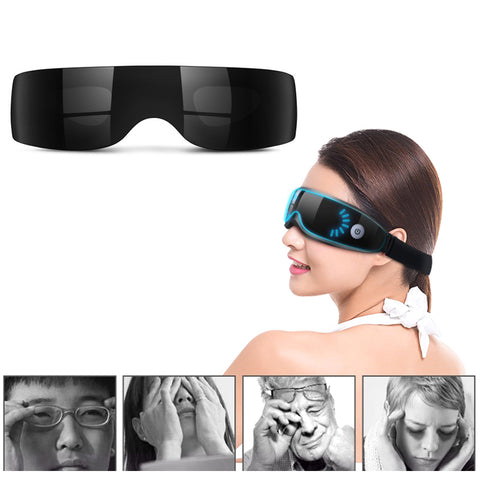 Eye SPA Electric Eyes Massager Vibration Infrared Heating Therapy Air Pressure Music Glasses Head Stress Relief Eyes Care 30