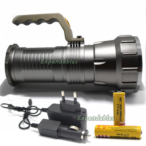Long Range Searchlight Flashlight Led Flashlight Cree T6 Rechargeable Powerful Flash Search Light Torch +18650 Battery +Charger