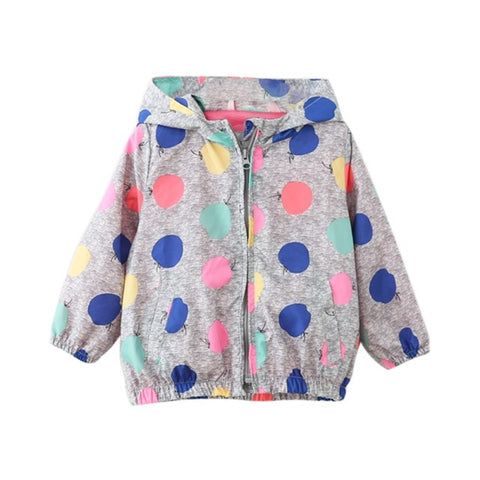 2017 New Warm Baby Boys Girls Children Spring Autumn Hooded  Cute Printed Long Sleeve Outerwear Kids Windproof Jackets