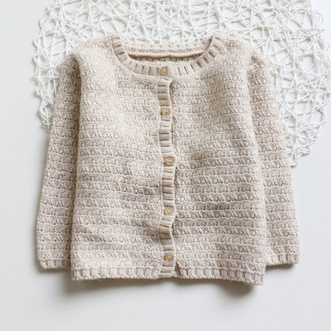 0-3 Years New Fashion Baby Boy Girl Winter Knitting Warm Clothing Ball In Hand Down Sweater Cardigan Jacket For Boys Girls