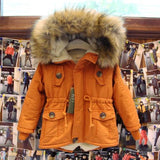 2-7T girls boys coats and jackets 2016 autumn winter Korean boys USA flag hooded coat thick cotton warmer kids winter coat girls