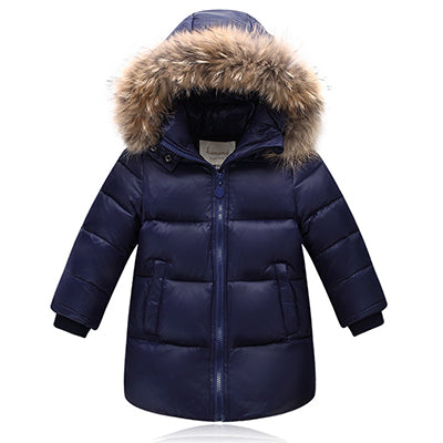 Actionclub Boys Girls Winter Down Jacket Children Warm Outerwear Kids Hooded Down Jacket Coat Boys Fashion Winter Clothing