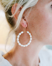 rice pearl hoops {large}