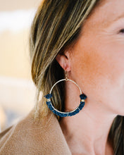dock line earrings {navy rope} mainsail large
