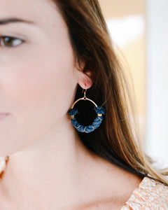 dock line earrings {navy rope} mainsail small
