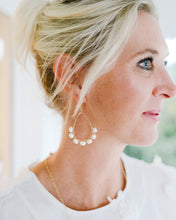 coastal glam {rice pearl} mini schooner earrings