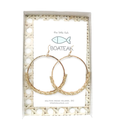 dock line rope earrings {gold braid} mainsail large
