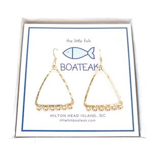 coastal glam {gold metal bead} mast earrings