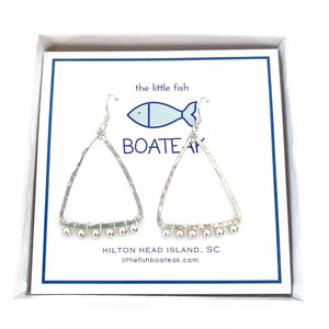 coastal glam {silver metal bead} mast earrings