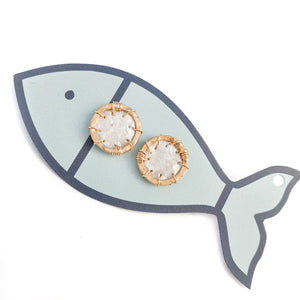 mother of pearl porthole studs
