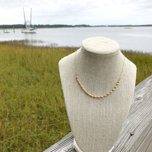 Charleston {16} rice bead necklace