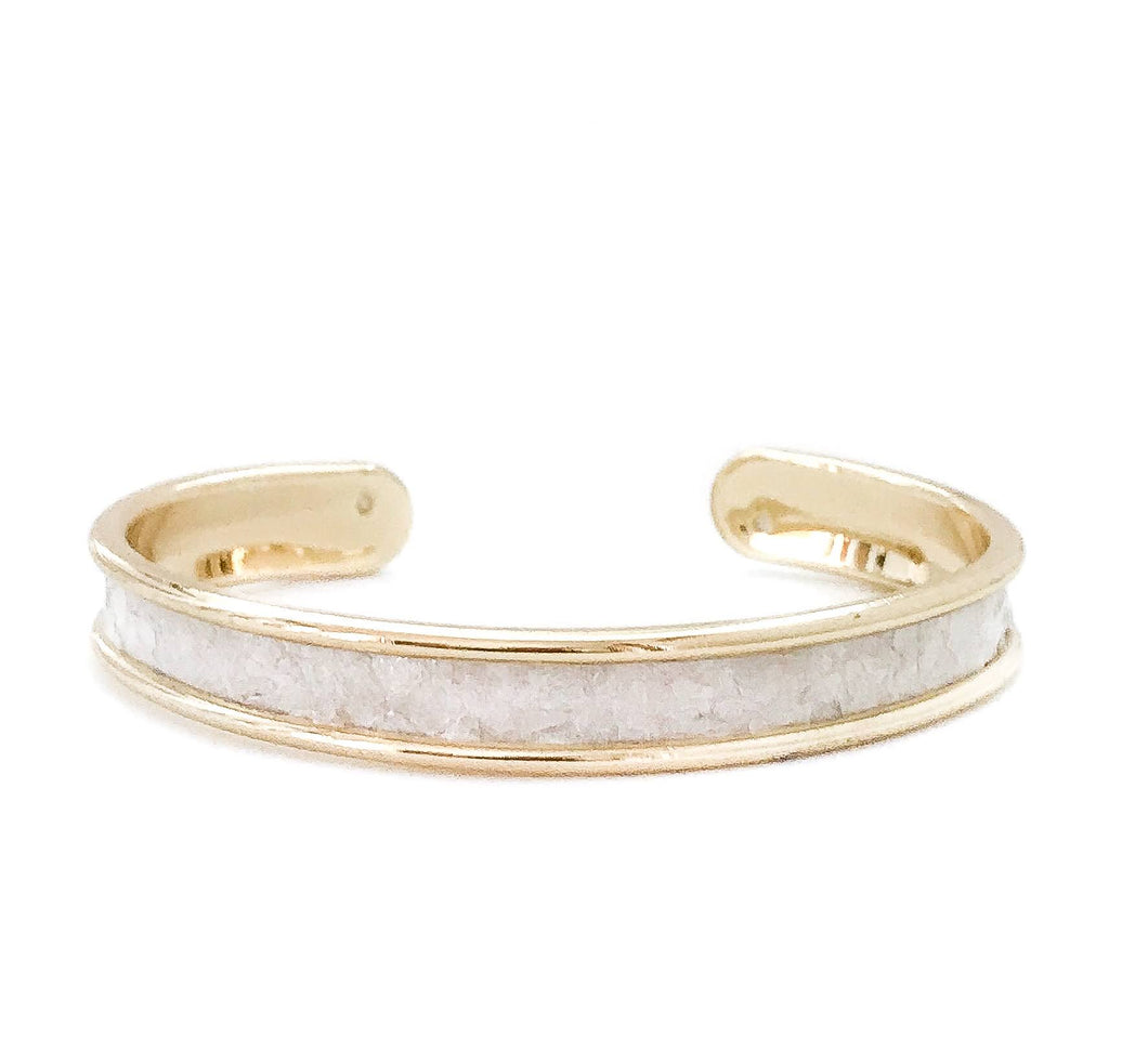 yacht hopper bangle {thin} mother of pearl