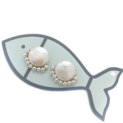 dixie studs {silver metal beads}