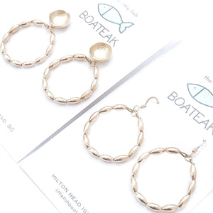 Charleston rice bead hoops {small}