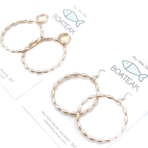 Charleston rice bead hoops {large}