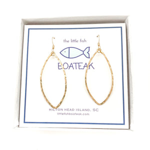 class-sea waterline earrings