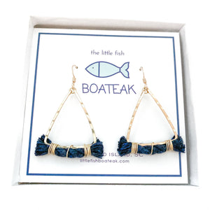 day sailor earrings {navy rope} mast