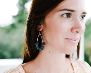 day sailor earrings {navy rope} keel