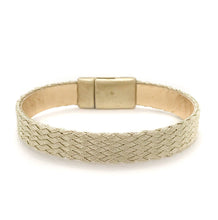 mermaid single cuff {plain/gold weave}