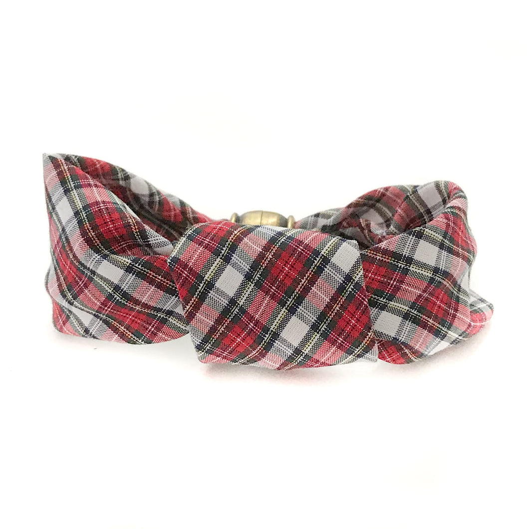 crew cuff nauti knot {red royal tartan}