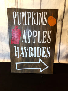 Pumpkins Apples & Hayrides