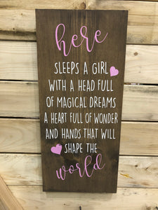 Here Sleeps A Girl...