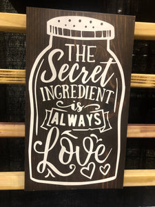 The secret ingredient is always love jar
