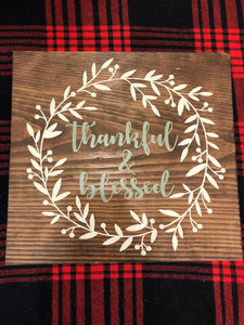 Thankful & Blessed Wreath