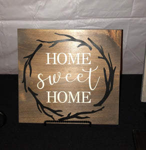 Home Sweet Home Antler Wreath