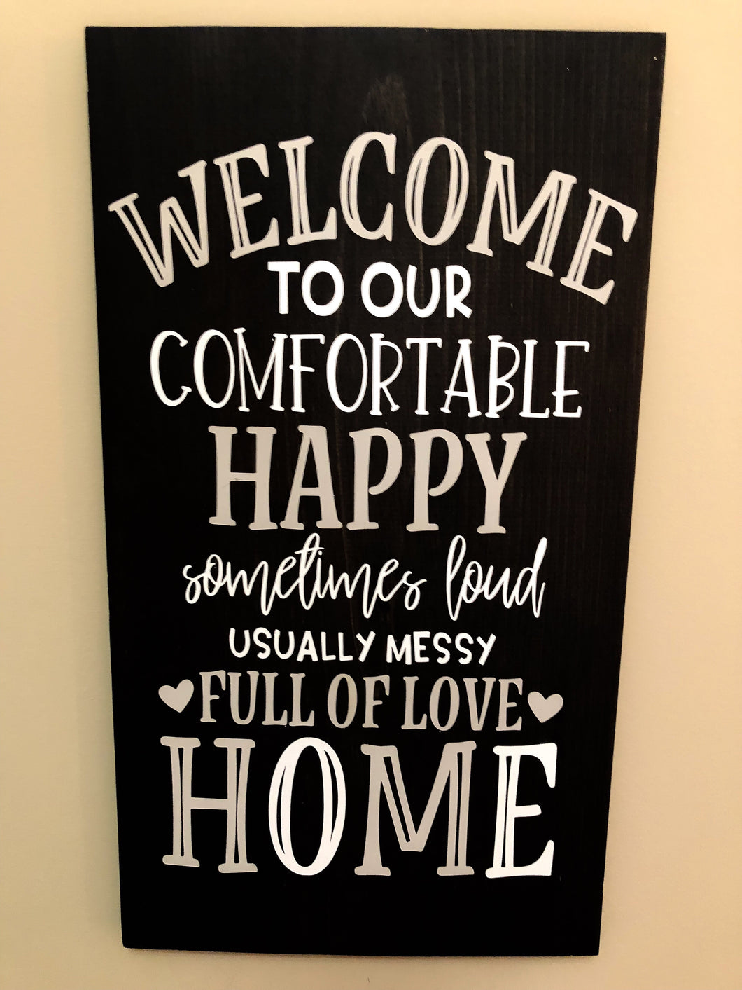 Welcome to our comfortable happy home