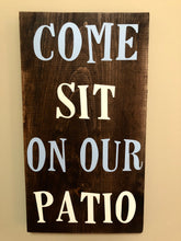 Come sit on our patio