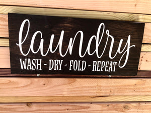 Laundry wash dry fold repeat