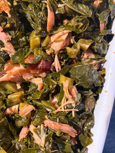 Honey and Cider Collard Greens