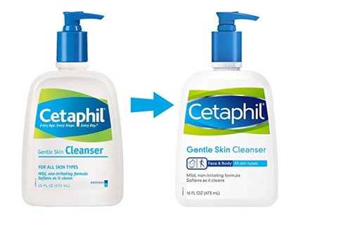 Gentle Skin Cleanser for Face and Body by Cetaphil - 2 Pack - 16 Oz