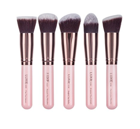 High-End Kabuki Brush Set by Luxie - 5 Pieces