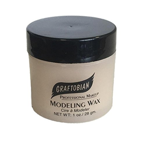 Flesh-colored SFX Modeling Wax Makeup by Graftobian - 1 Ounce