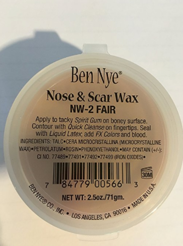SFX Makeup Scar Wax by Ben Nye - 2 Ounces