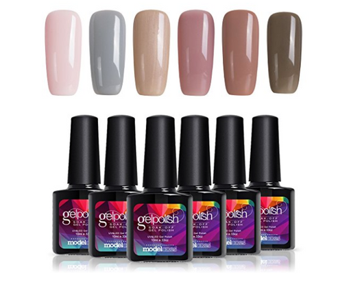 Gel Nail Polish Set by Modelones - Nude Series - 6 Colors