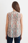 Velvet The Jay Azteca Lurex Print Sleeveless Top