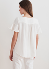Velvet Julia Cotton Gauze S/S Top