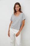 Velvet Elva Cotton Slub V-Neck Top