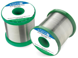 "Alpha SAC305 Lead-Free PureCore Water-Soluble .032"" Diameter Solder Wire, 1 LB Spool"