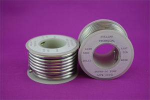 "Super-Low Temp Lead-Free Solder Wire for Stained Glass - 0.125"" diameter, 1/2 LB Spool"