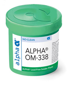 Alpha 148025, OM338 SAC305 Lead-Free Solder Paste - 500 gram Jar