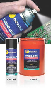 Techspray 2108-12S Turbo-Coat Acrylic Conformal Coating, 12 oz Aerosol